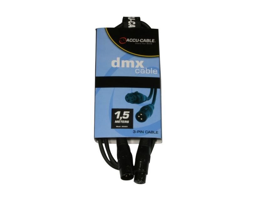 Accu-Cable AC-DMX3/1,5 3 p. XLRm/3 p. XLRf 1,5m