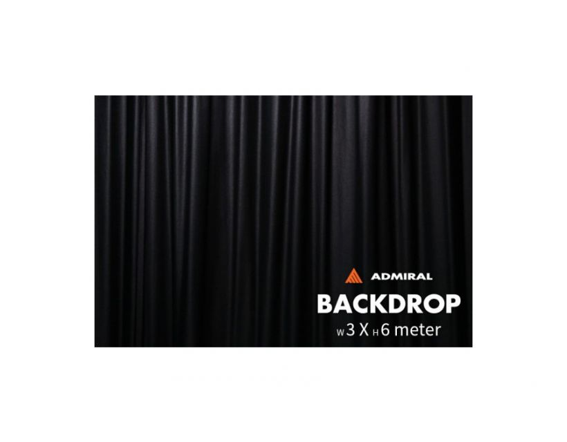 Admiral Backdrop 320 g/m≤ 3m width x 6m height black