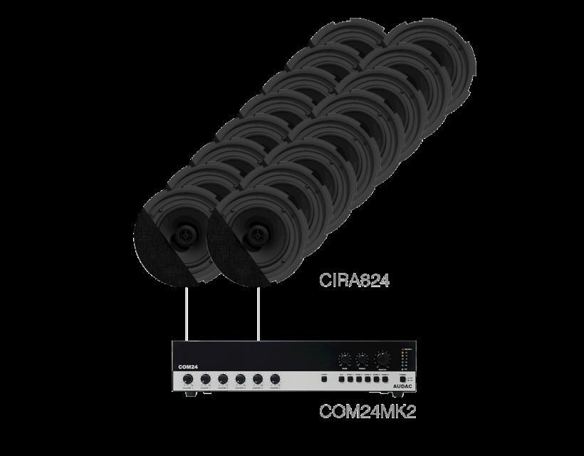 Audac 16 x CIRA824 + COM24MK2 Black version