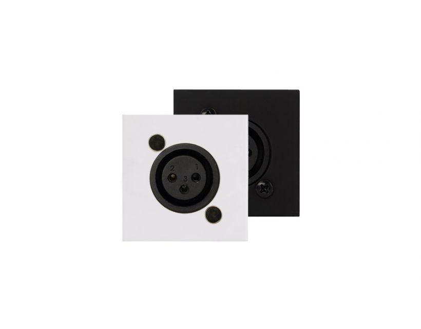 Procab Connection Plate - D-Size Xlr Female - 45x45mm - White