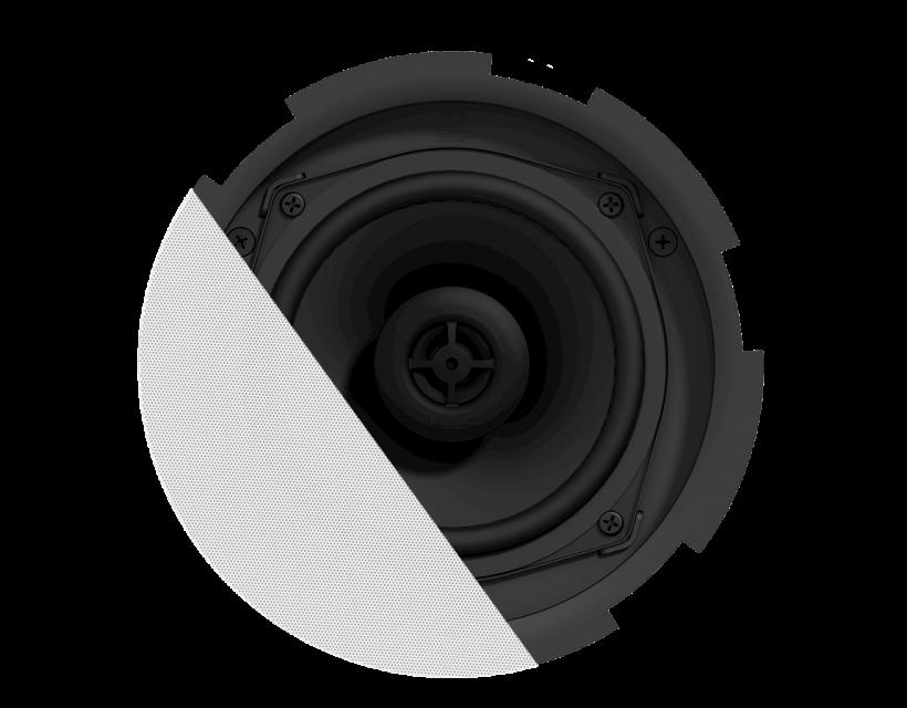 """Audac QuickFit™ 2-way 5 1/4"""" ceiling speaker with TwistFix™ grill White version, 8Ω & 24 Watt @ 100V"""