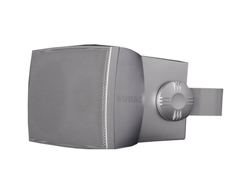 """Audac Wall Speaker 5"""" 2-Way 50w Rms 8 Ohm/100v Incl.Bracket-Silver"""