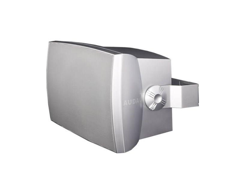 "Audac Wall Speaker 8"" 2-Way 70W RMS 16 Ohm/100V Incl.Bracket-Silve"