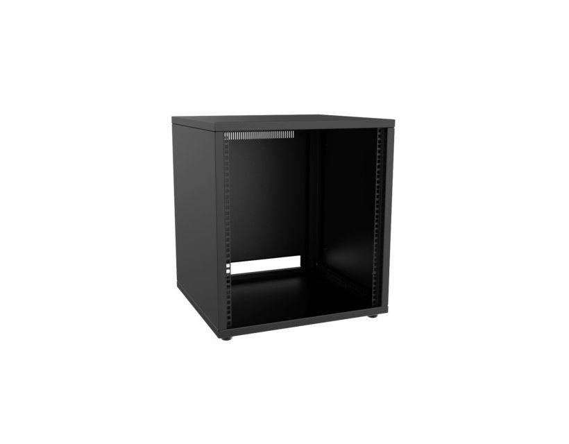 "Caymon 19"" Rack Cabinet - 12 Unit - 500mm - Flat Down - Black"