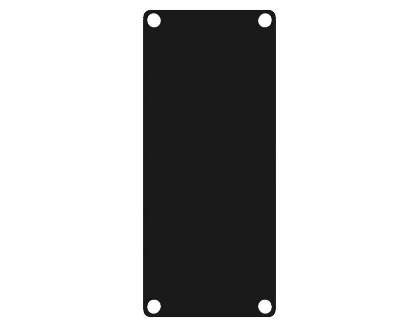 Caymon Casy 1 Space Closed Blind Plate - Black