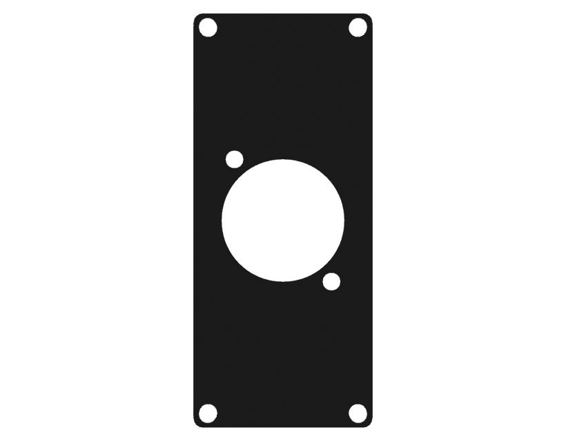 Caymon Casy 1 Space Cover Plate - 1 X D-Size Hole - Black