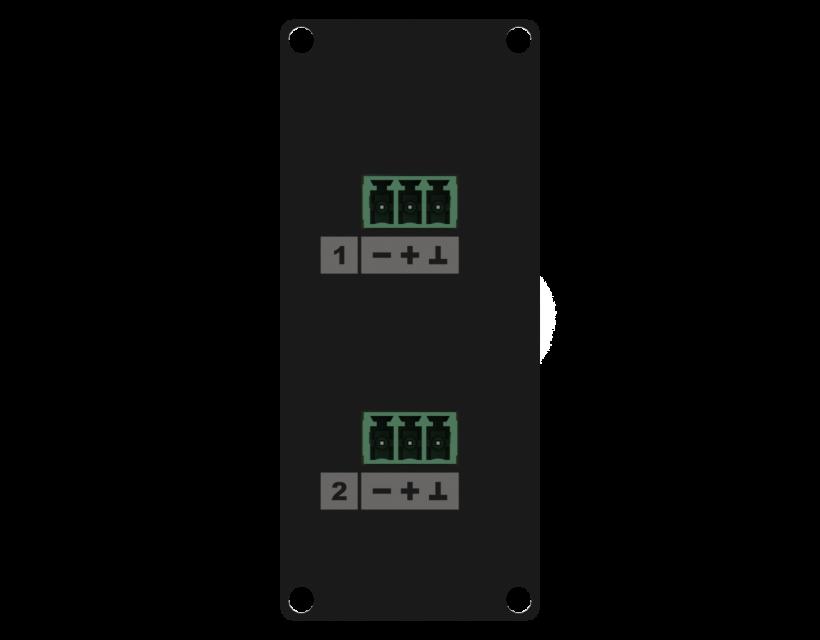 Caymon Casy 1 Space Line Level 2 X 3-Pin Tb To 3-Pin Tb - Black