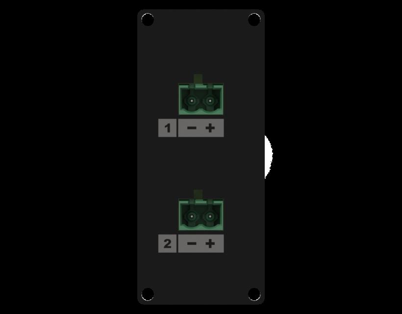 Caymon Casy 1 Space Speaker Level 2 X 2-Pin Tb To 2-Pin Tb - Black