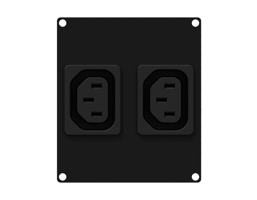 Caymon Casy 2 Space 2 X Euro Power Outlet Socket - Black