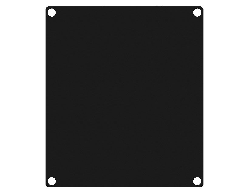 Caymon Casy 2 Space Closed Blind Plate - Black