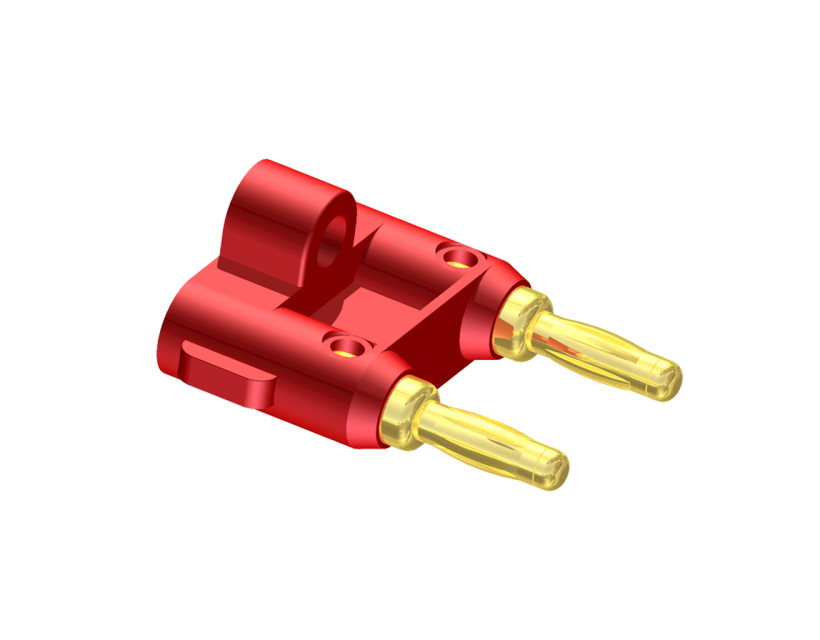 Procab Cable connector - Banana connector - red Connector