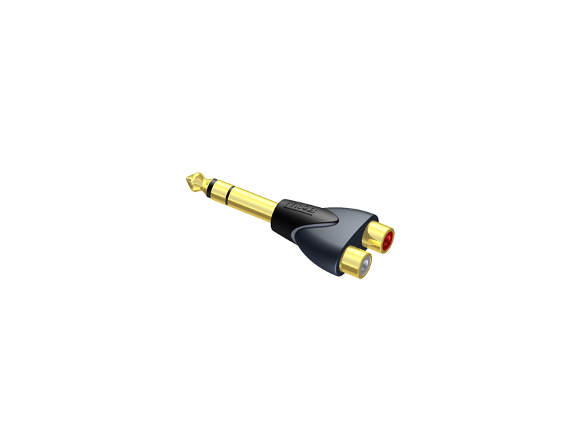 Procab Adapter - 2 x RCA/Cinch female - 6.3 mm Jack male stereo