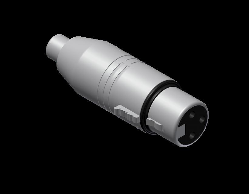 Procab Adapter - RCA/Cinch female - XLR female Adapter