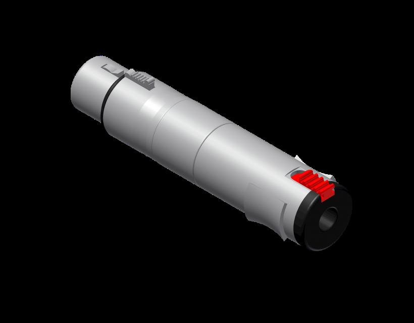Procab Adapter - XLR female - 6.3 mm Jack female stereo Adapter