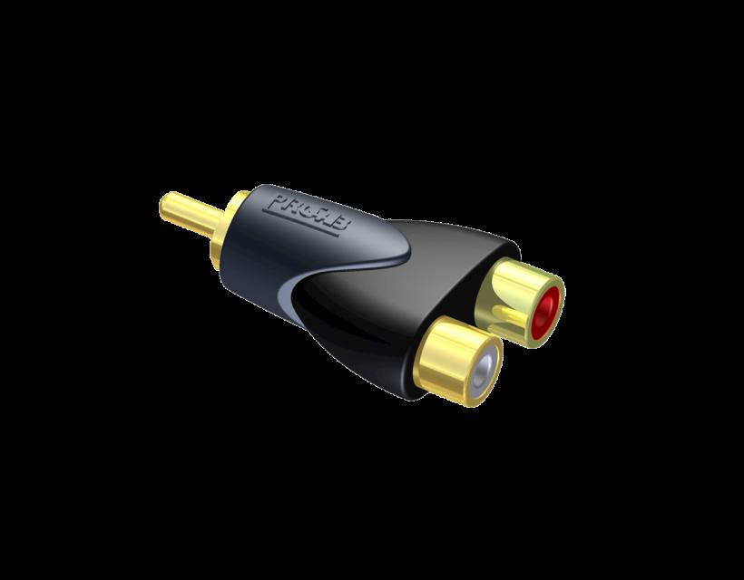 Procab Adapter - 2 x RCA/Cinch female - RCA/Cinch male