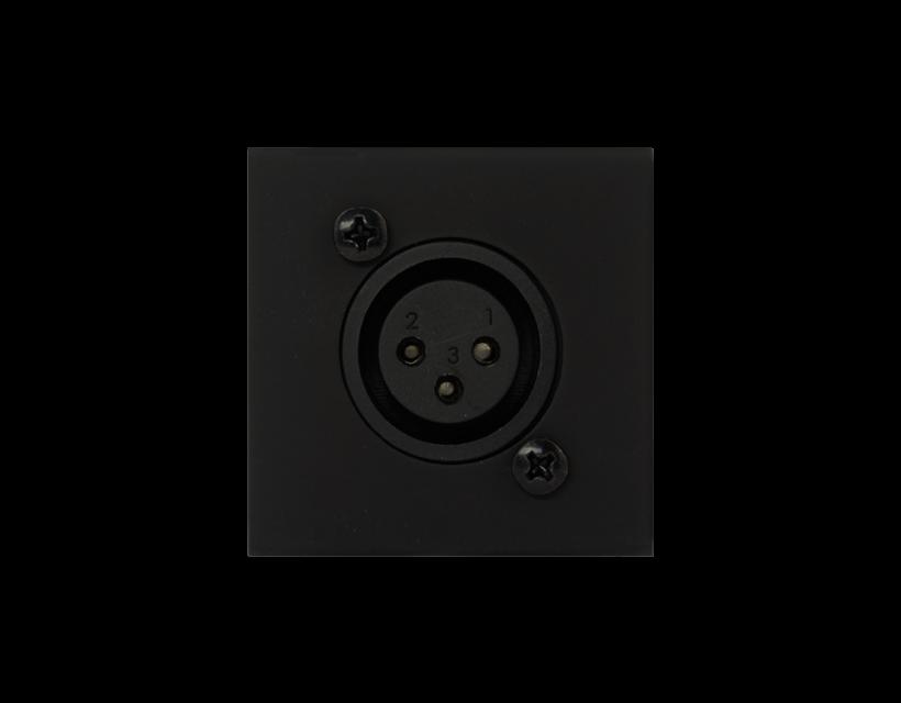 Procab Connection Plate - D-Size Xlr Female - 45x45mm - Black