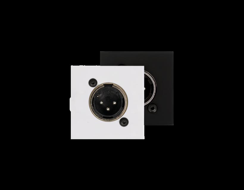 Audac Connection plate XLR male 45 X 45 mm - solderless Black