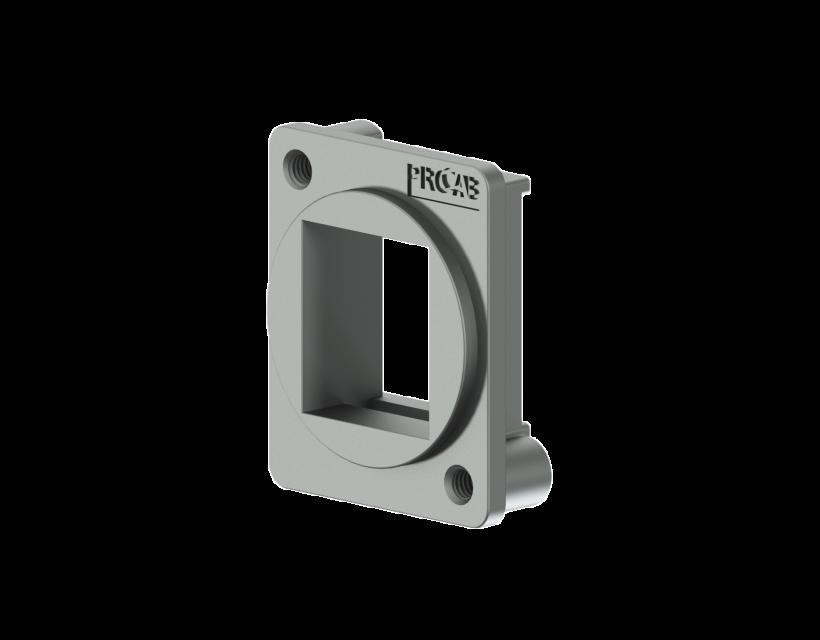 Procab D-size keystone adapter Silver