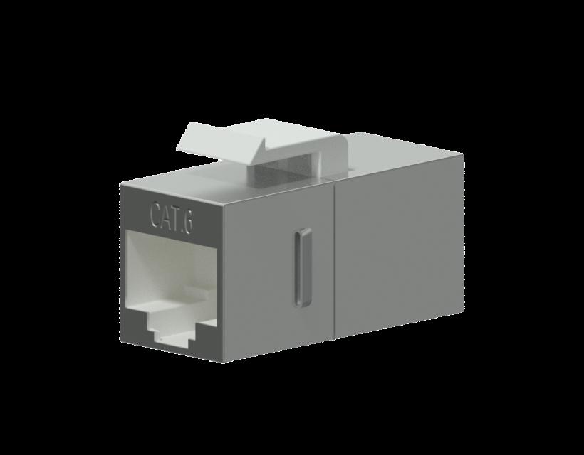 Procab Keystone adapter - CAT6 RJ45 - RJ45 - metal shielded Keystone adapter cat6 rj45 to rj45 - shielded