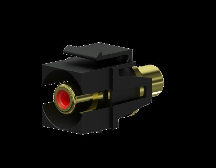 Procab Keystone adapter - RCA female - RCA female - pair Black