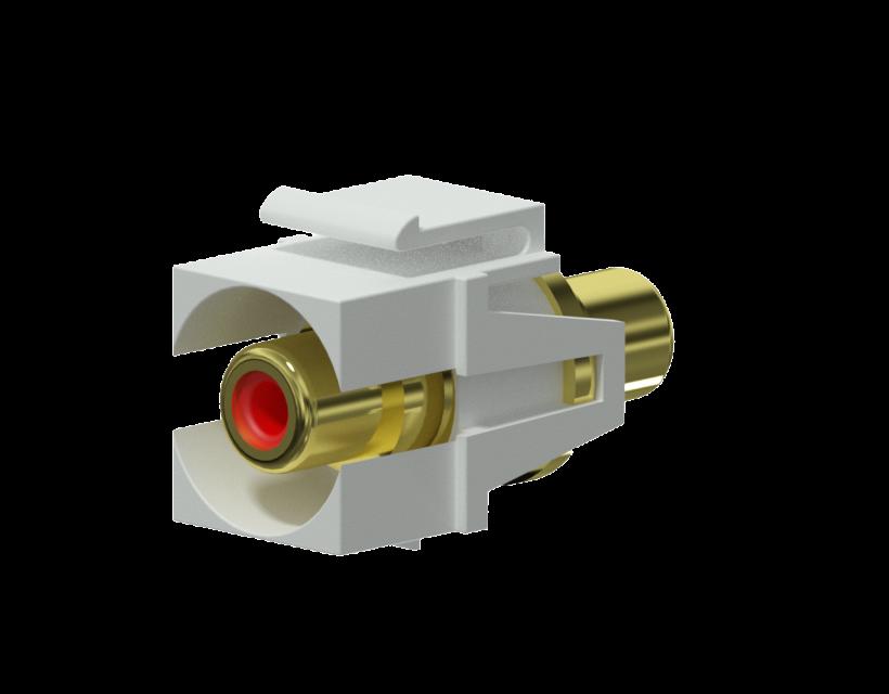 Procab Keystone adapter - RCA female - RCA female - pair White