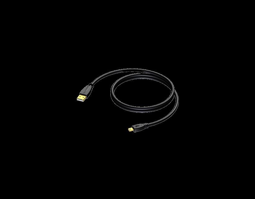 Procab USB A - USB Mini B - 1.5m