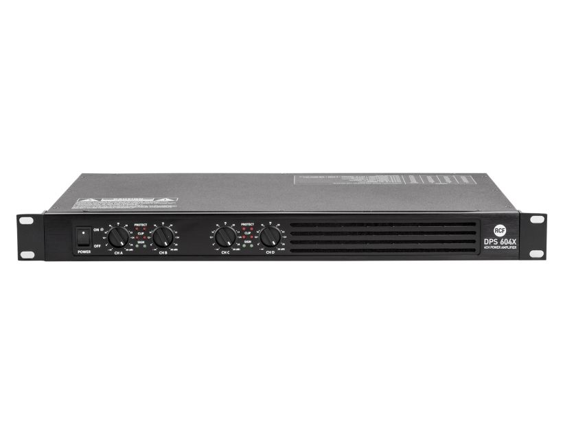 RCF DPS604X Class D pro power amplifier 4x150 W RMS @ 4 ohm with int Crossover
