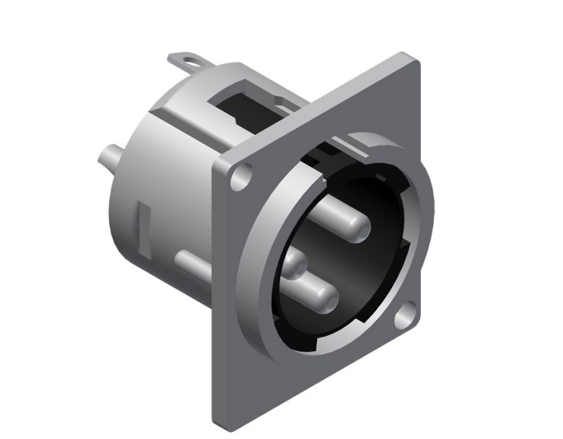Procab Panel connector - 3-pin xlr male Connector
