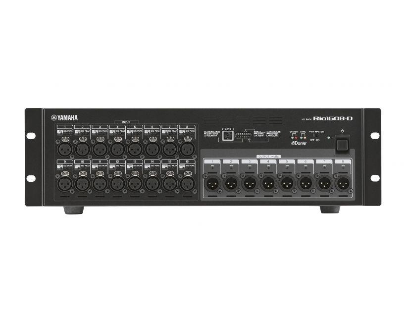Yamaha RIO1608-D Dante rack-mountable i/o