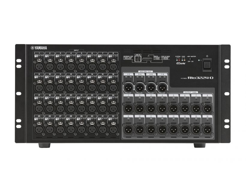 Yamaha RIO3224-D Dante rack-mountable i/o